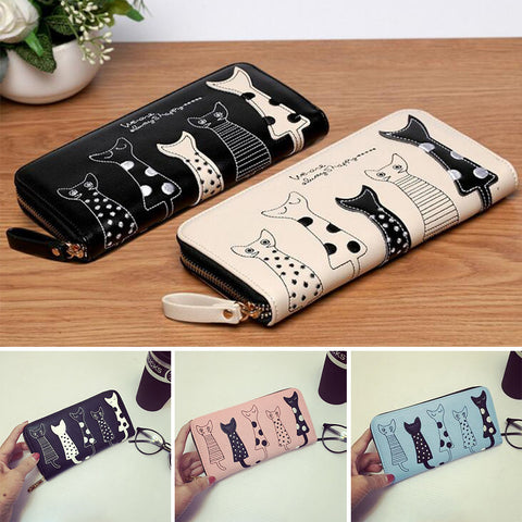 Cartoon Cat Long Wallets  KW1812023