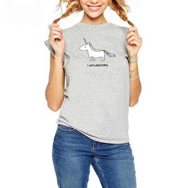 Kawaii Unicorn Printed  T-shirt