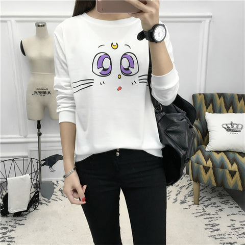 Sailor Moon Artemis Face  Sweatershirts KW141190