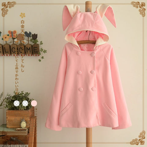 Winter Pink Bunny Ears Coat KW154166