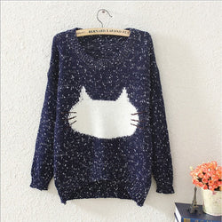Cute Cat Head Sweater