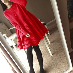 Winter Doll Long Sweater Dress