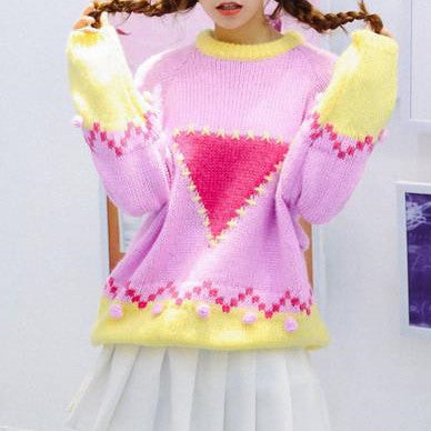 Candy Color Sweet Cute Sweater K13302