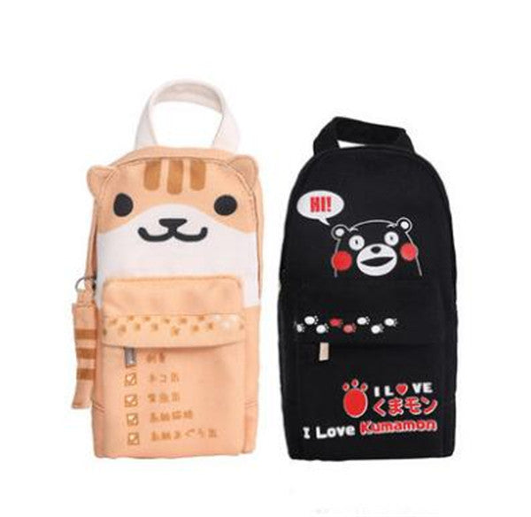 Neko Atsume Cat Kumamon Canvas Pencil Box