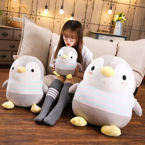 Giant Cartoon Soft Fat Penguin Plush Toys Pillow K15261 - kawaiimoristore