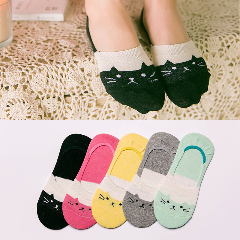 Cute Cartoon Cat  Socks KW1710715