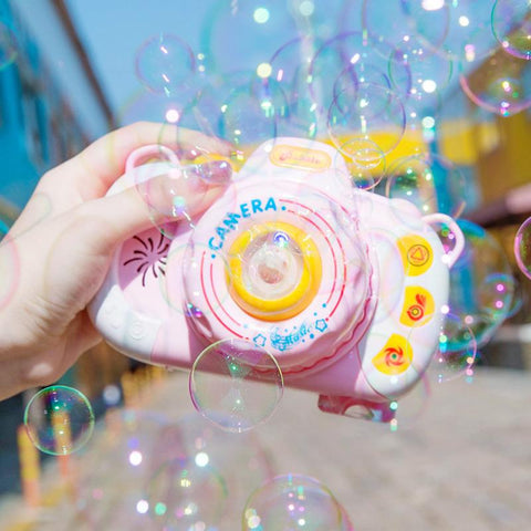 Cute Camera Bubble Blowing Toys K14944