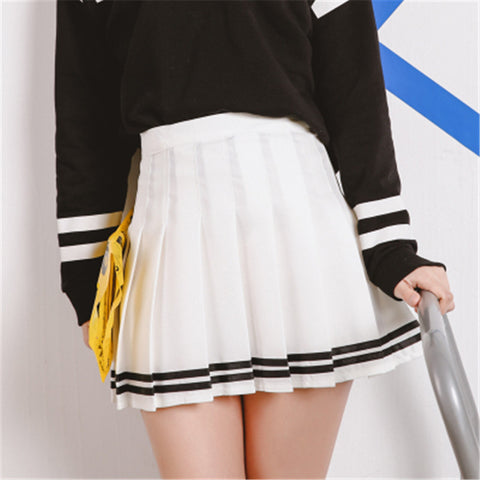 Black/White Sailor Pleated Skirts KW166396