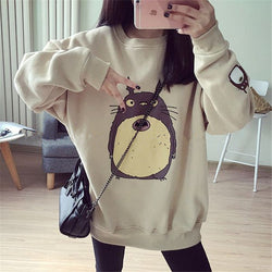 Totoro Embroidery Loose Sweatershirt KW179111