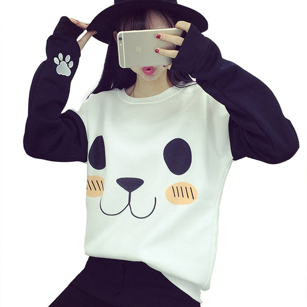 Kawaii Panda Printed  Sweatshirt