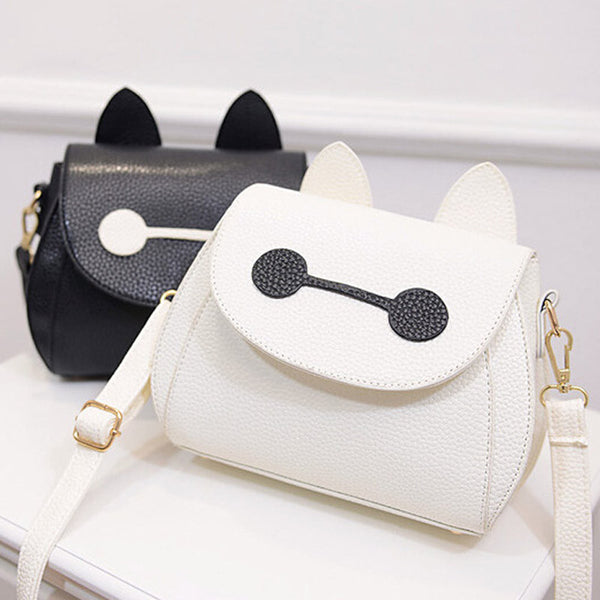Cute Fox Rabbit Cat Bear Face Shoulder Bags