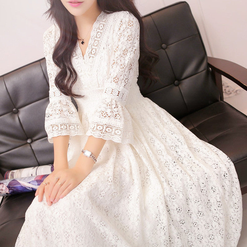 Vintage Princess Lace Long Dresses