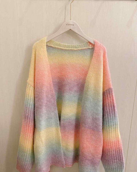Rainbow Knitted Sweater K15375 - kawaiimoristore