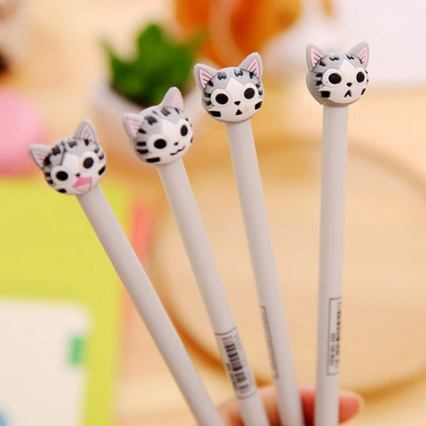 4 pcs/lot Cartoon Cat Gel Pen - kawaiimoristore
