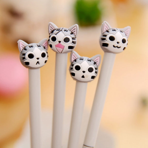 4 pcs/lot Cartoon Cat Gel Pen