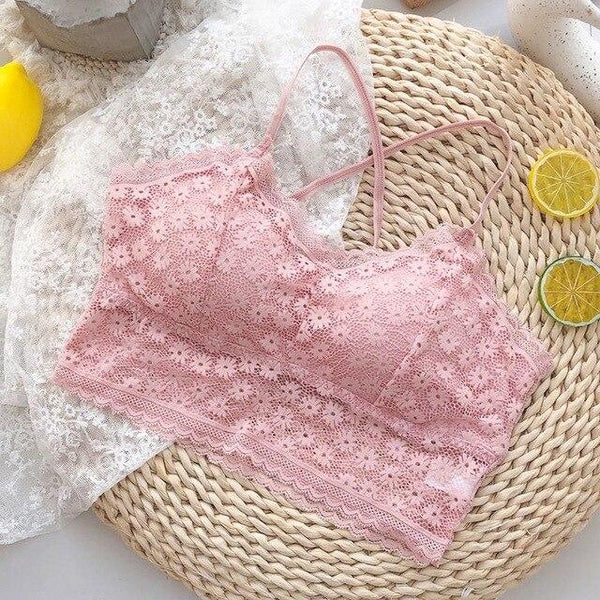 Sweet Lace Solid Color Hollow Out Sling Underwear K15376 - kawaiimoristore