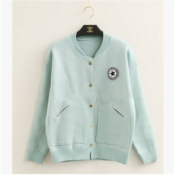 Korean Knitted Cardigan Short Overcoat KW178929