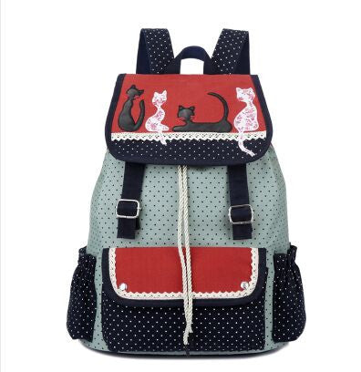 Multicolor Cat Backpack