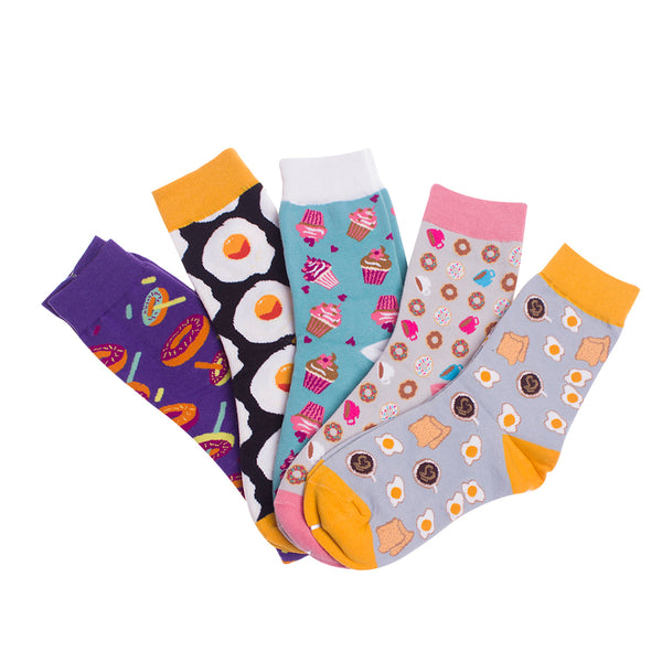 Cartoon Printing Creative Food  Socks