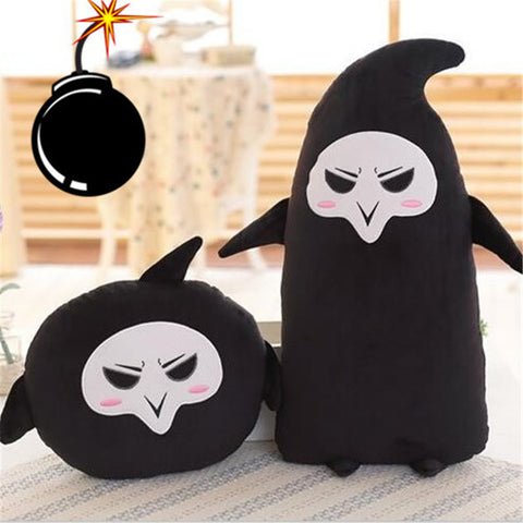 2 styles Overwatches Reaper Plush Pillow - kawaiimoristore