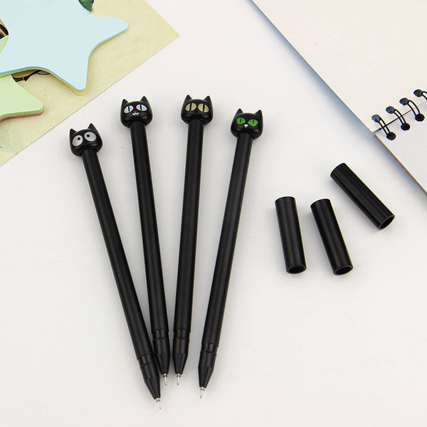 4pcs/Lot The Black Cat Gel Pen