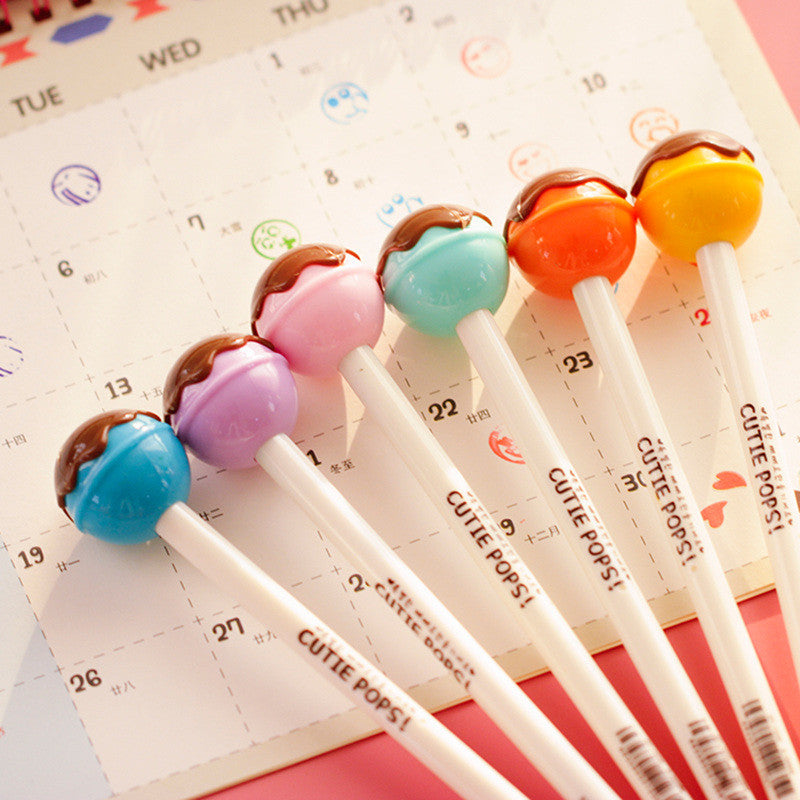6 pcs/Lot Kawaii Lollipop ink pens