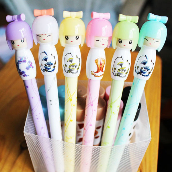 Cute Doll Gel Pen for Writing - kawaiimoristore