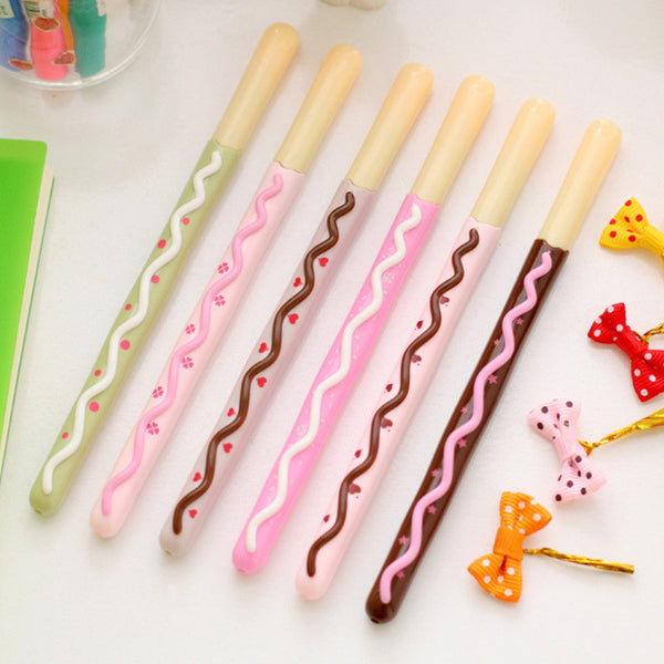 6 pcs/lot Kawaii Cookies Gel Pen K13221