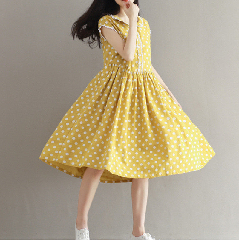 Mori Girl  Dot Loose Dress