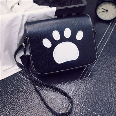 Cat Paw Prints Flap Handbags Crossbody Bags KW1710200 - kawaiimoristore
