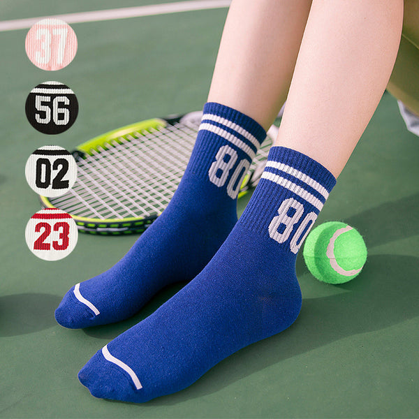 5 Pairs Two Bars Striped Pattern Sporting Socks