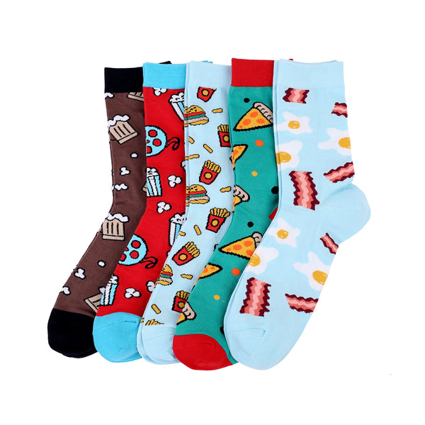 Cotton Socks Pizza Coffee Novelty Food Socks