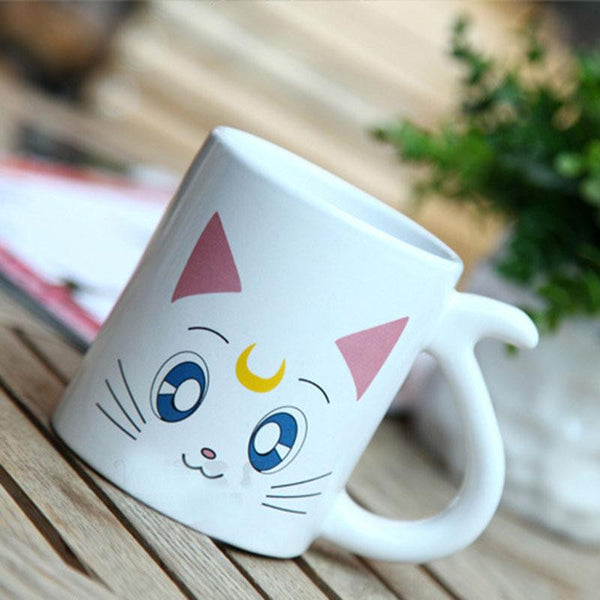 2 pcs/lot Cute Luna Artemis Couple Ceramics Mug Cup