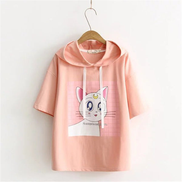 Sailor Moon Artemis Hoodie Top KW179703