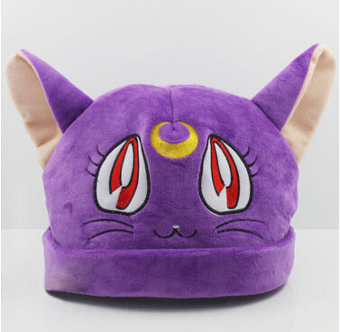 Sailor Moon Cosplay Luna Cat Plush Hat K12913