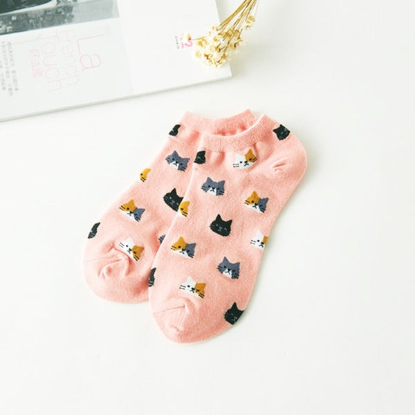 Cute Cat Face  Socks KW1711103