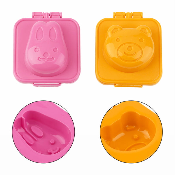 Bear And Rabbit Boiled Egg Rice Mold