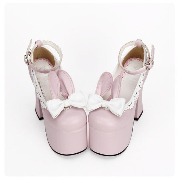 High Heel Cute Rabbit Ear Sweet Shoes KW179940
