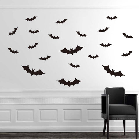 DIY PVC Bat Wall Sticker Halloween Decoration