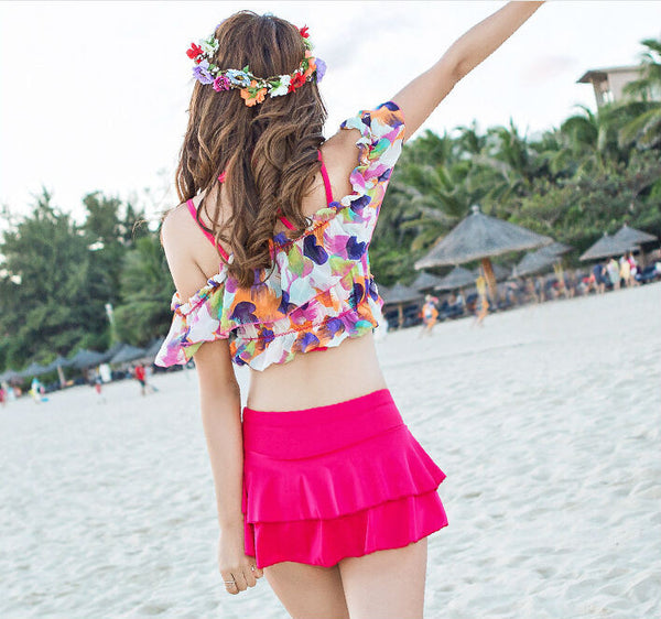 Kawaii Ruffle Design Sexy Swimsuits KW1812359 - kawaiimoristore