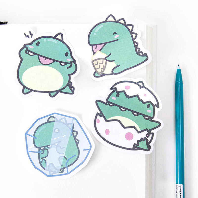 Green Dinosaur Sticky Note