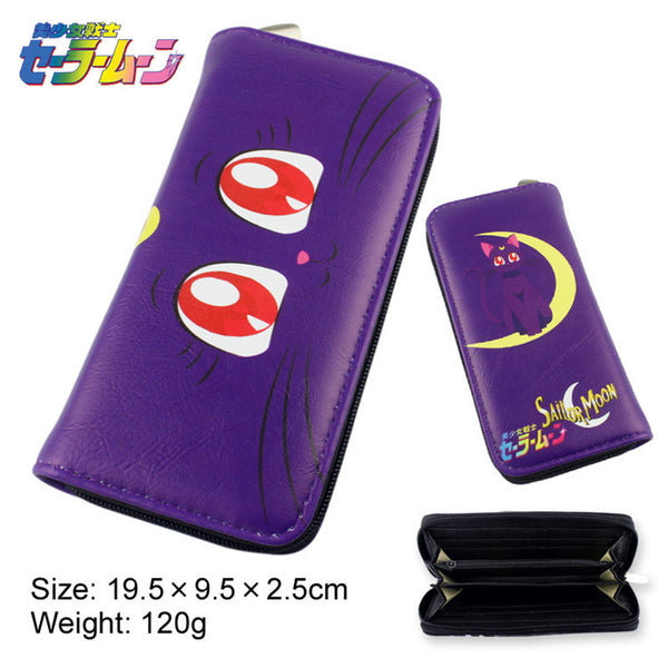 Sailor Moon Purple Cat Luna Long Wallet