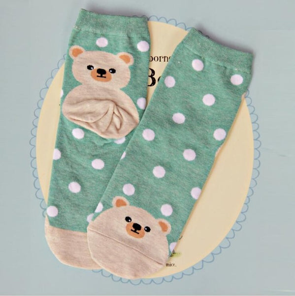 Lovely Cartoon Sweet Cotton  Socks