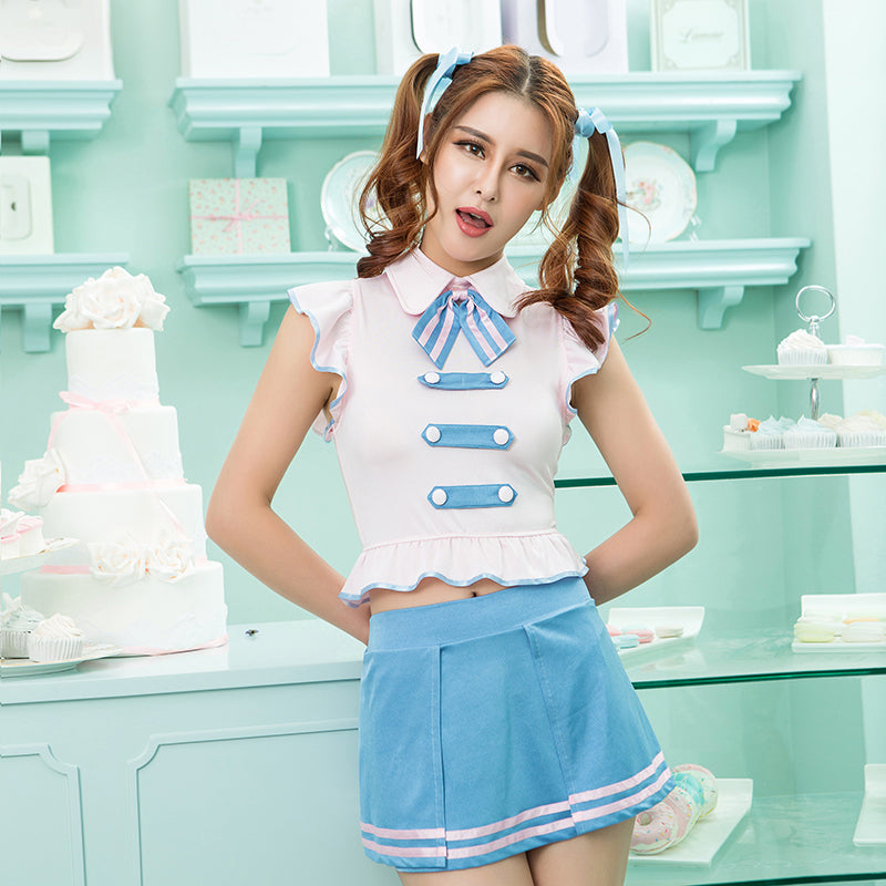 Halloween Cosplay Sexy Costume Role Play Student Uniform