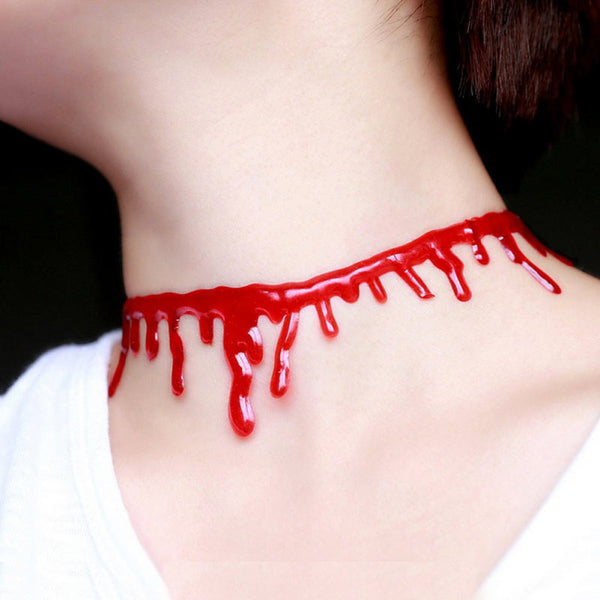 Halloween  Blood Necklace for Cosplay Party KW167706