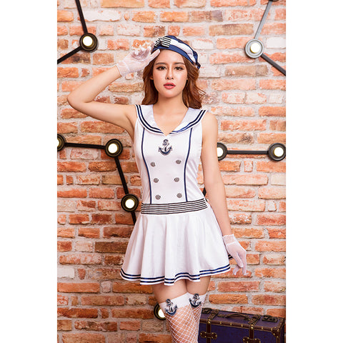 Sailor Suit Clothes Halloween Cosplay Sexy Costume