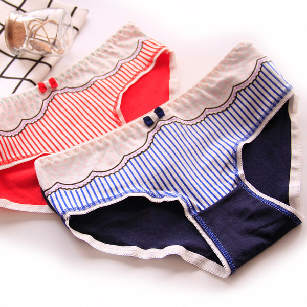 Candy Stripe Bow Panties