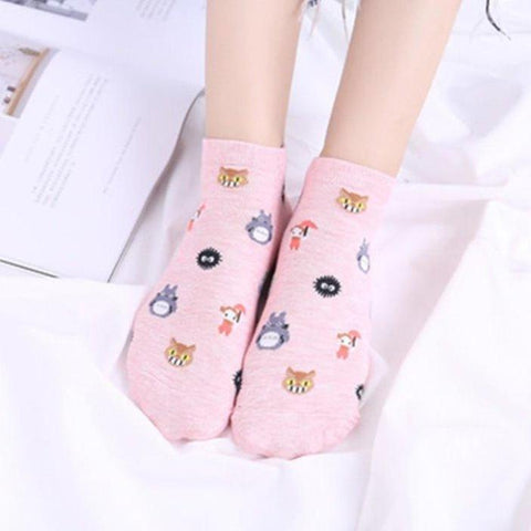 Cotton Cartoon Ghibli Socks K14940 - kawaiimoristore