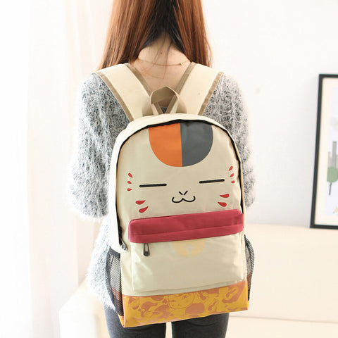 Cat  Canvas Backpack
