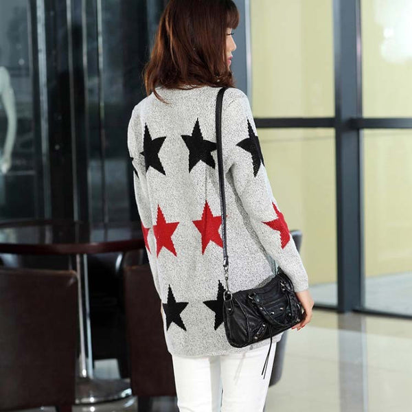 Star Pattern Cardigans Sweaters